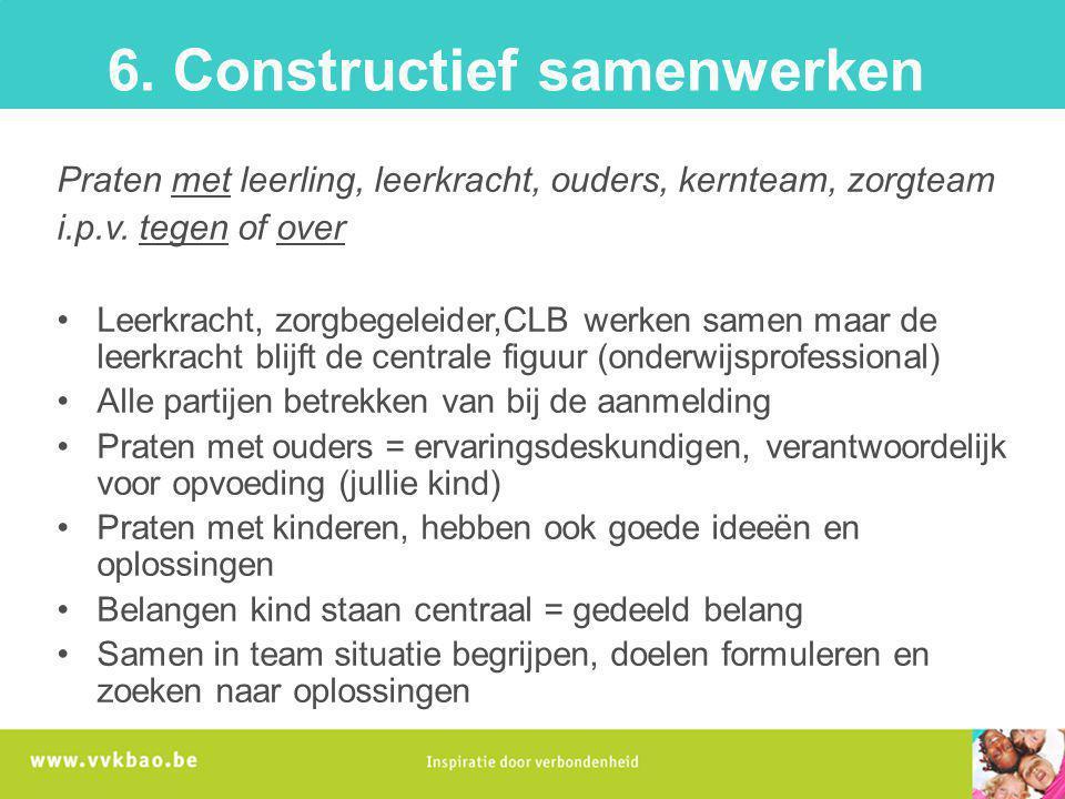 6. Constructief samenwerken