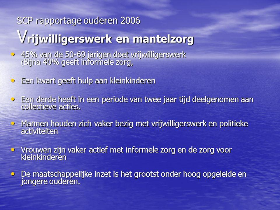SCP rapportage ouderen 2006 Vrijwilligerswerk en mantelzorg