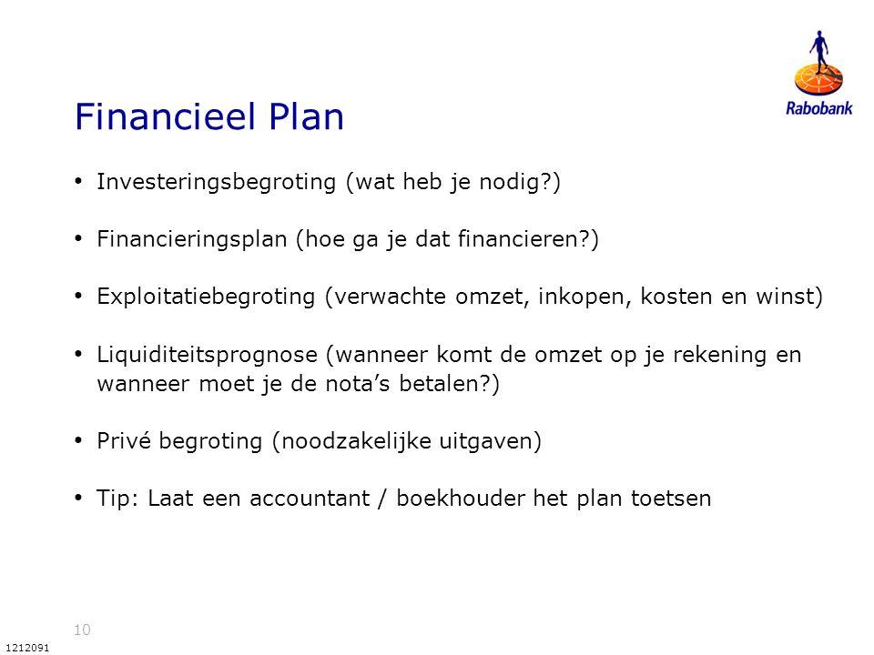 Financieel Plan Investeringsbegroting (wat heb je nodig )
