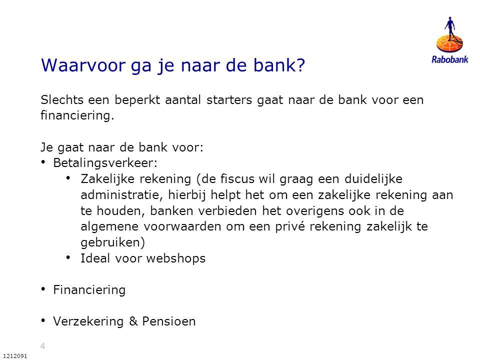 Waarvoor ga je naar de bank