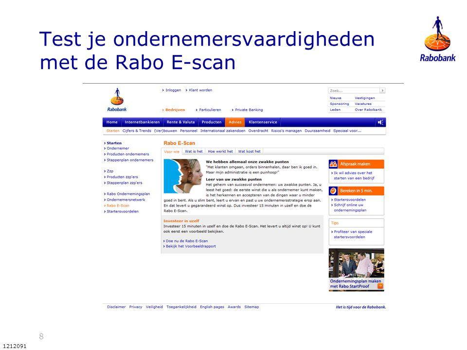 Test je ondernemersvaardigheden met de Rabo E-scan