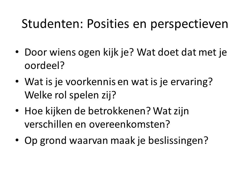 Studenten: Posities en perspectieven
