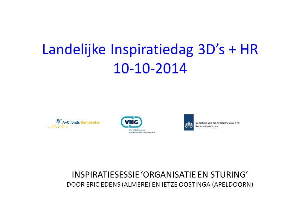 Landelijke Inspiratiedag 3D's + HR 10-10-2014