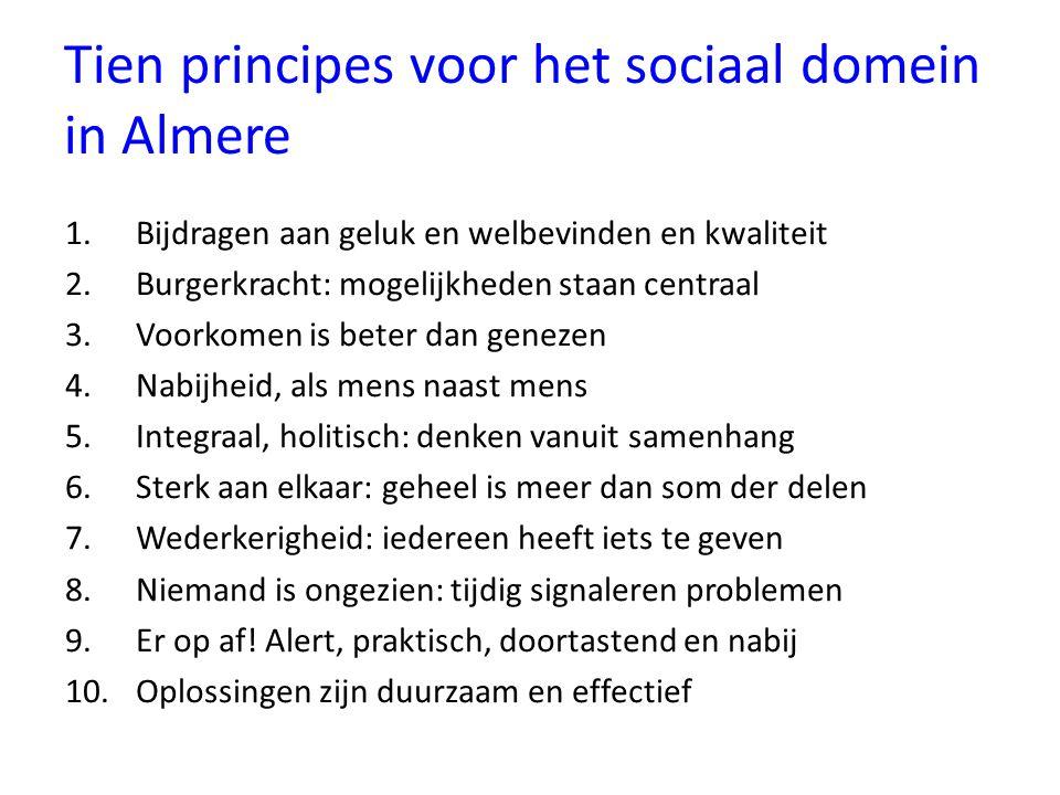 Tien principes voor het sociaal domein in Almere