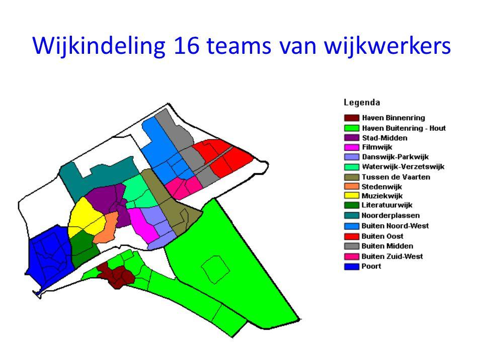Wijkindeling 16 teams van wijkwerkers