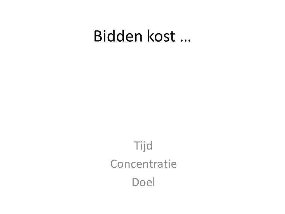 Tijd Concentratie Doel