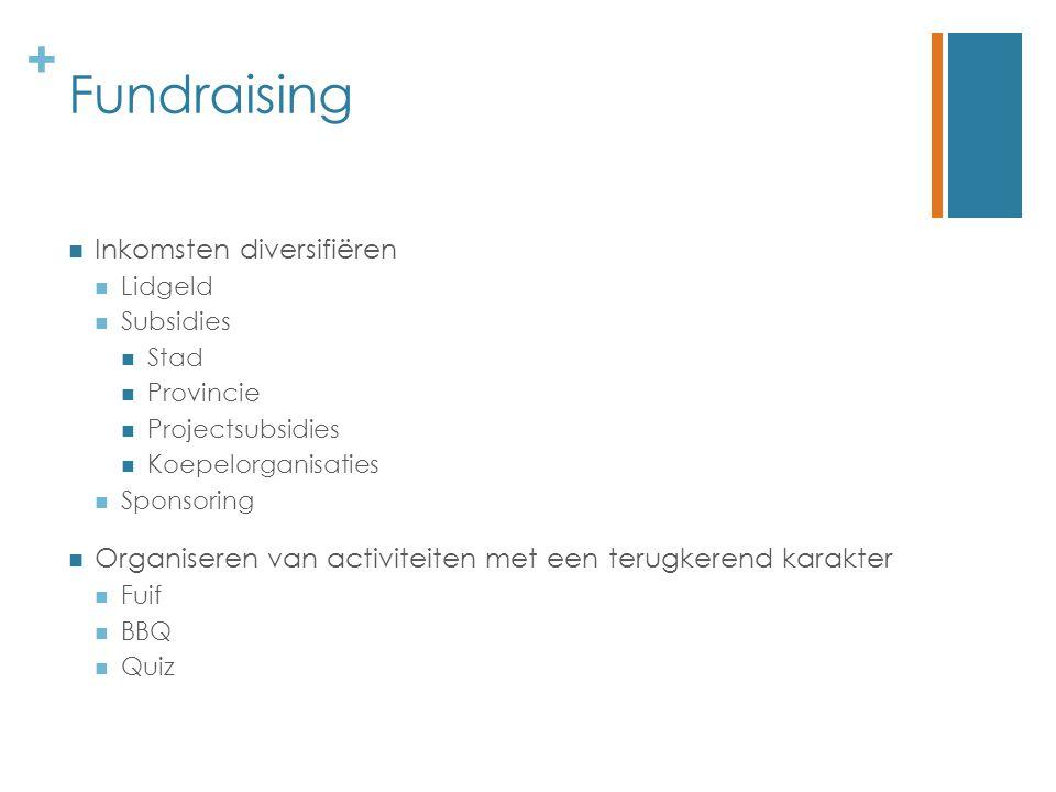 Fundraising Inkomsten diversifiëren