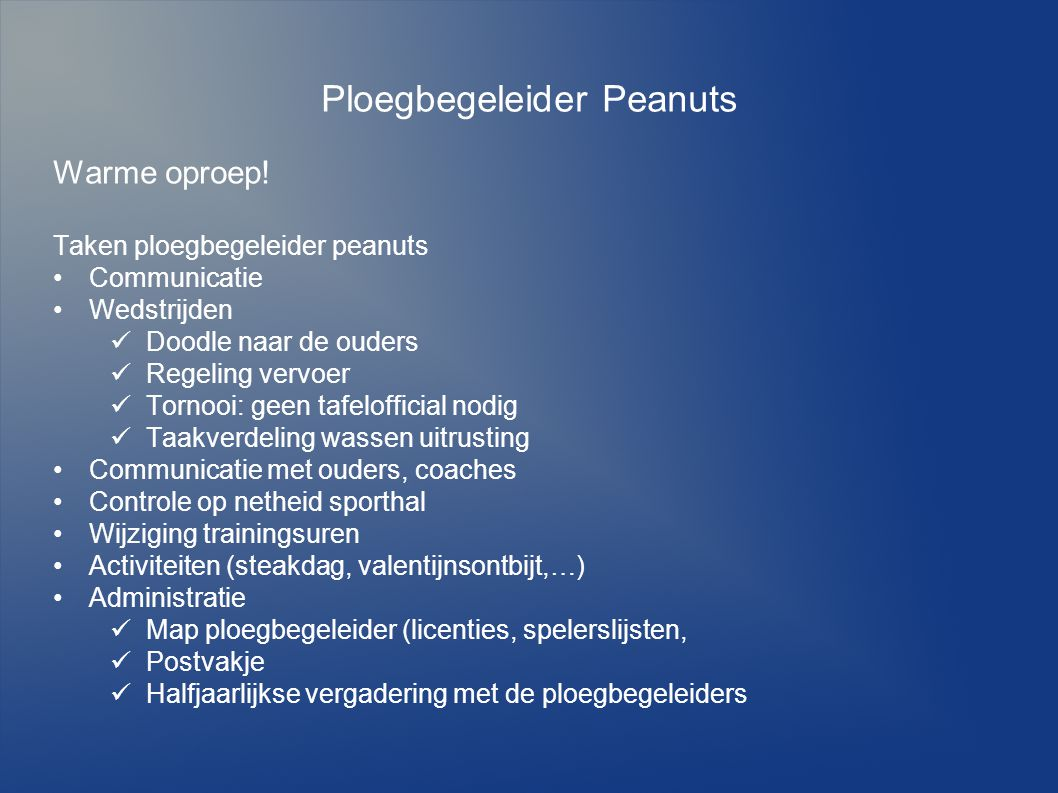 Ploegbegeleider Peanuts