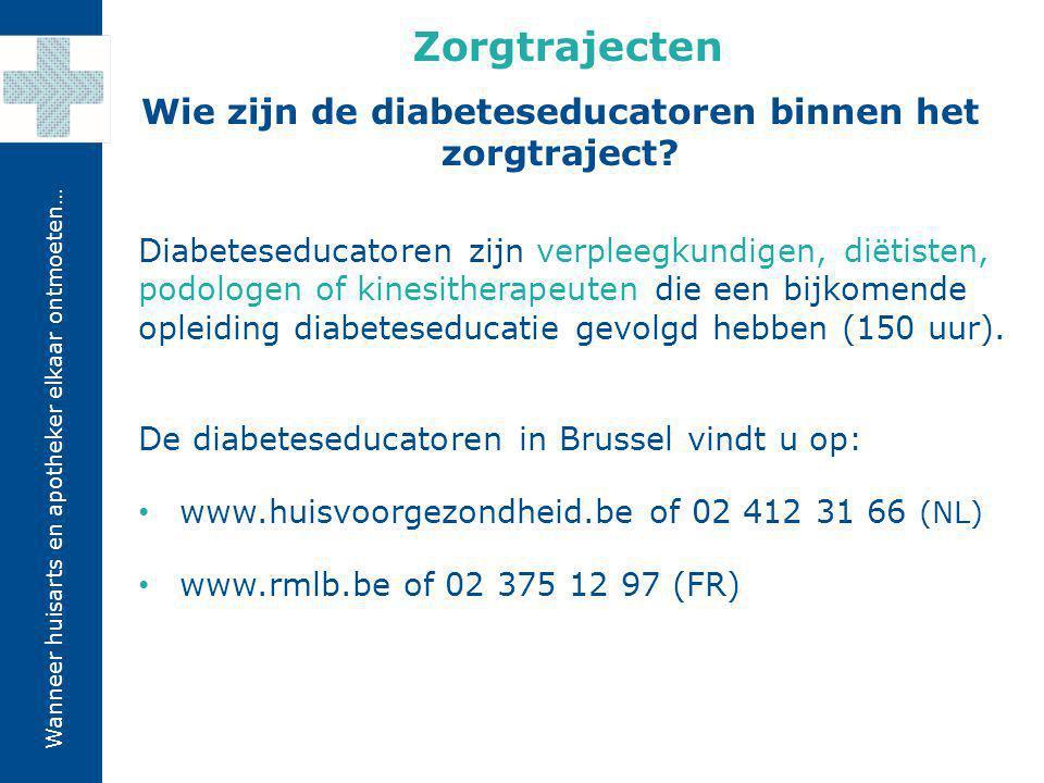 Wie zijn de diabeteseducatoren binnen het zorgtraject