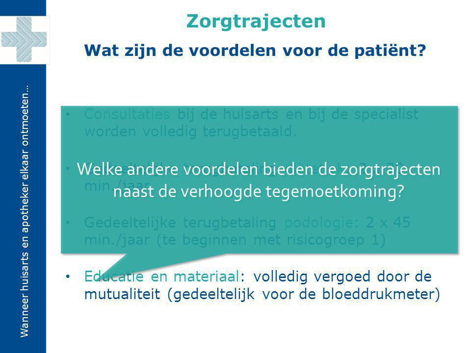 Wat zijn de voordelen voor de patiënt