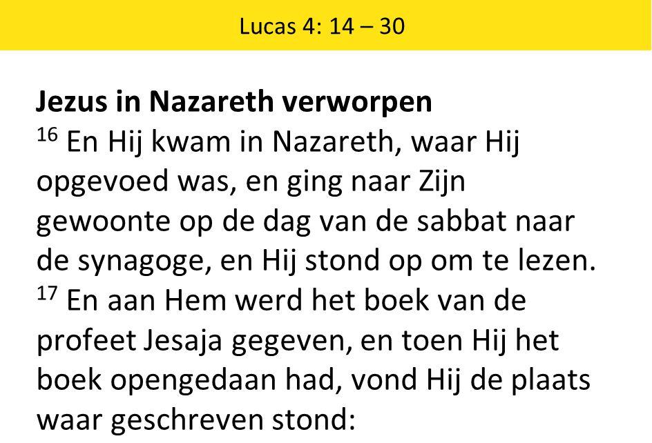 Jezus in Nazareth verworpen