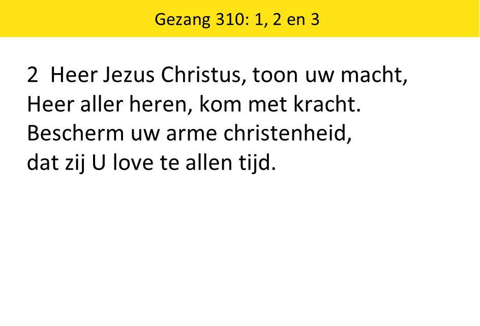 2 Heer Jezus Christus, toon uw macht,