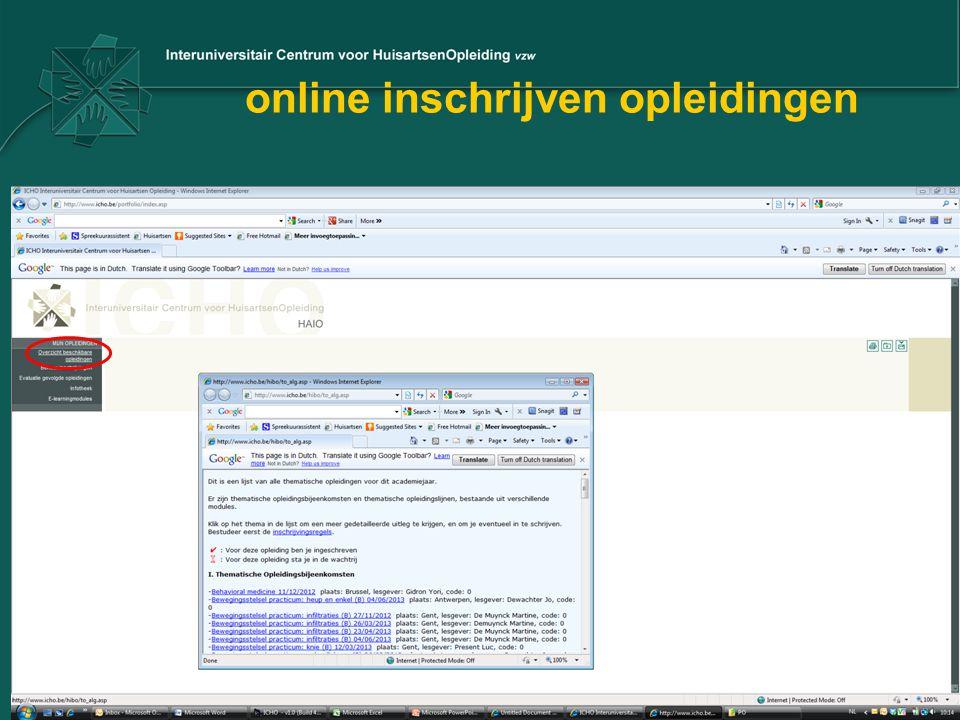 online inschrijven opleidingen