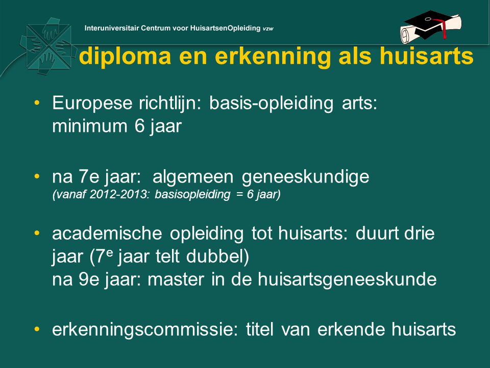 diploma en erkenning als huisarts