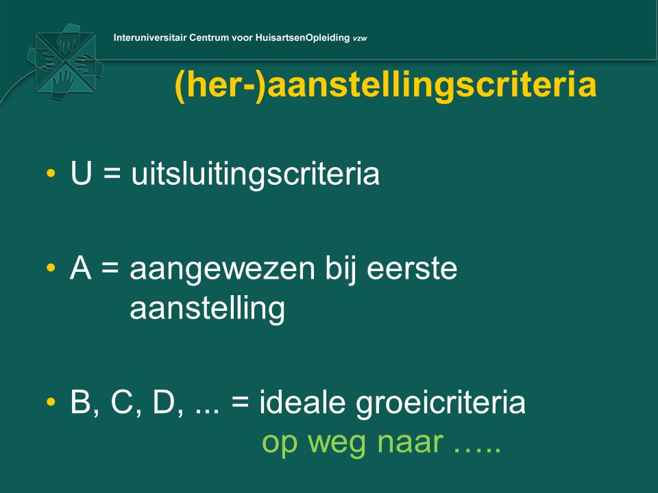 (her-)aanstellingscriteria