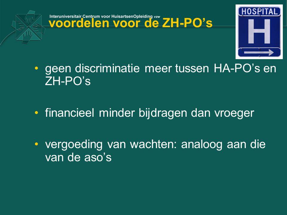 voordelen voor de ZH-PO's