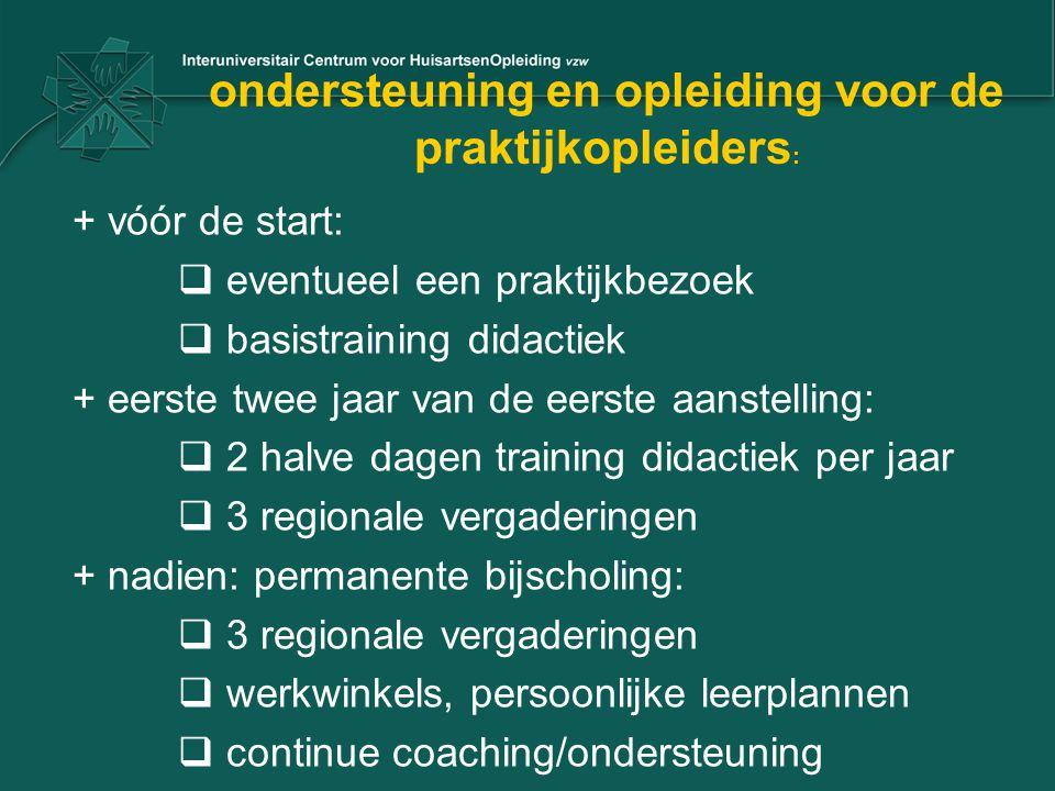 ondersteuning en opleiding voor de praktijkopleiders: