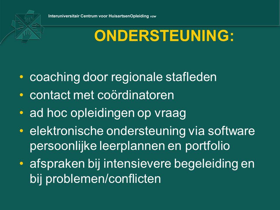 ONDERSTEUNING: coaching door regionale stafleden