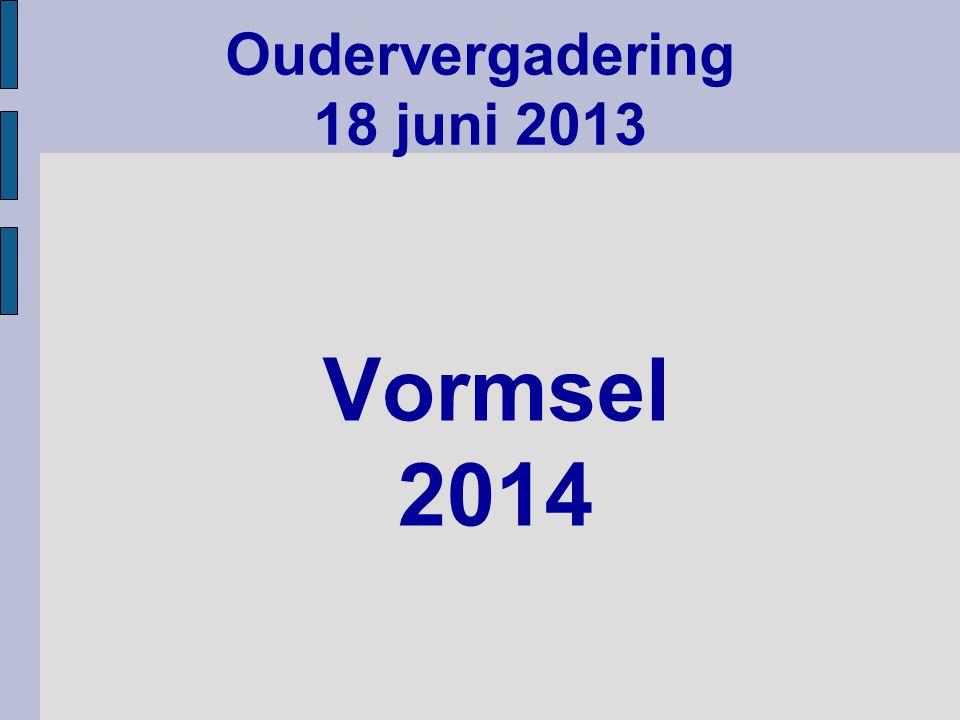 Oudervergadering 18 juni 2013