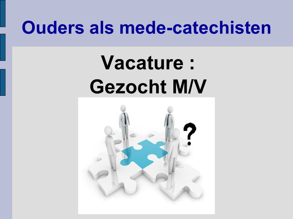 Ouders als mede-catechisten