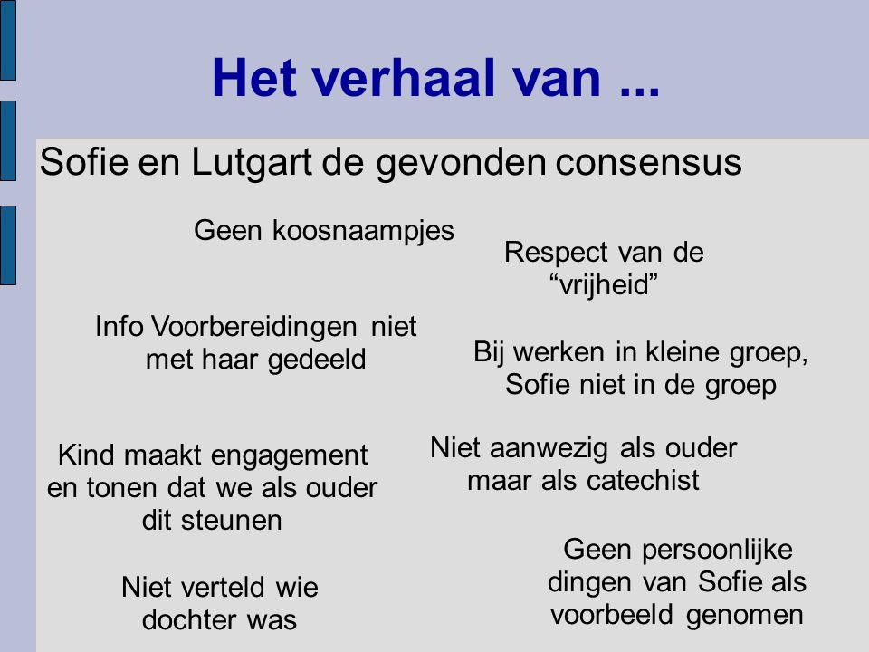 Het verhaal van ... Sofie en Lutgart de gevonden consensus