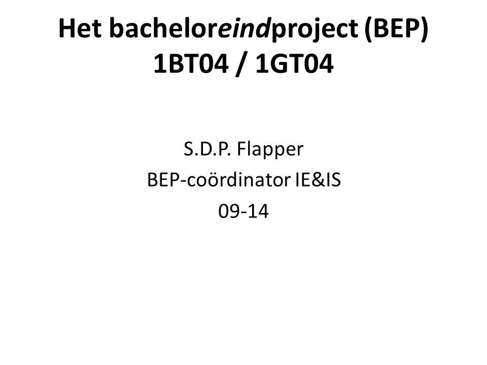 Het bacheloreindproject (BEP) 1BT04 / 1GT04