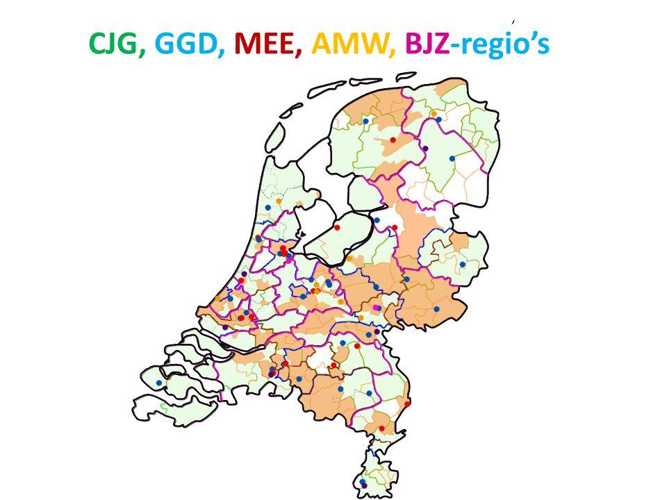 CJG, GGD, MEE, AMW, BJZ-regio's