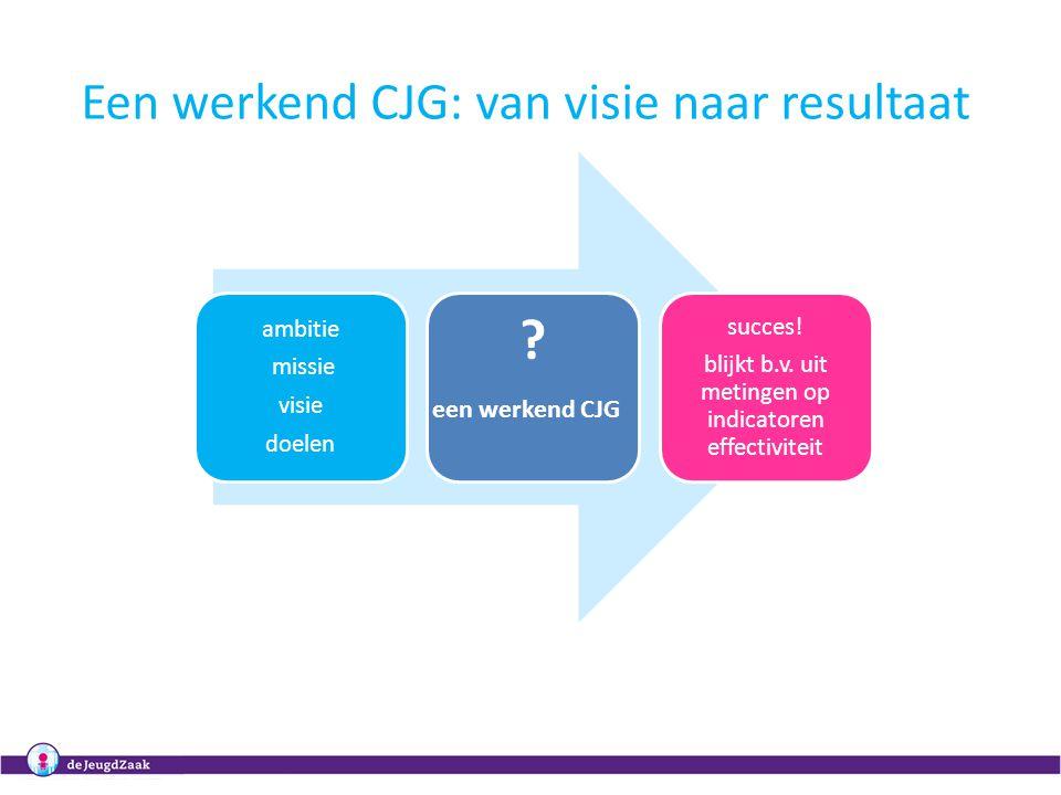 Een werkend CJG: van visie naar resultaat een werkend CJG