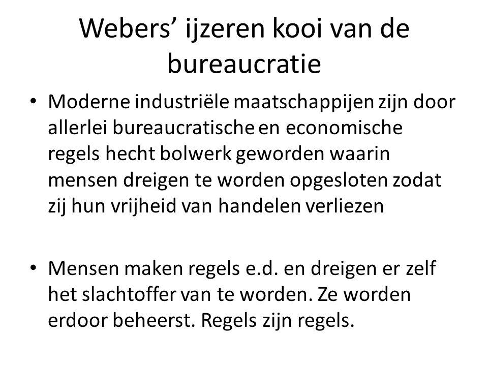 Webers' ijzeren kooi van de bureaucratie
