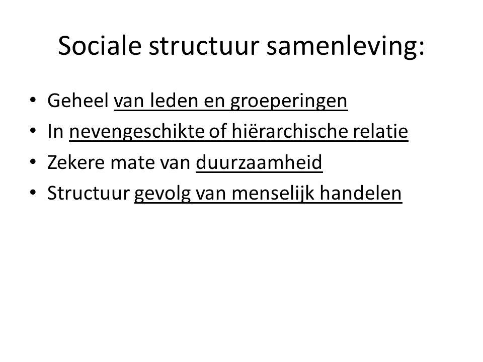 Sociale structuur samenleving: