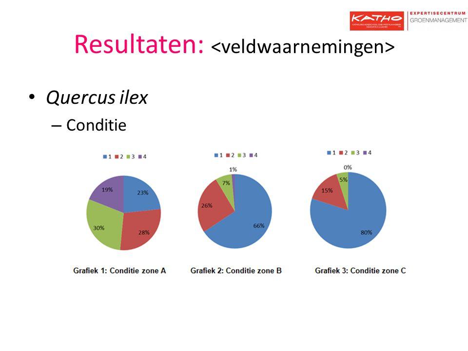 Resultaten: <veldwaarnemingen>