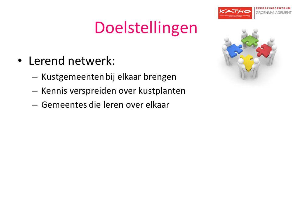 Doelstellingen Lerend netwerk: Kustgemeenten bij elkaar brengen