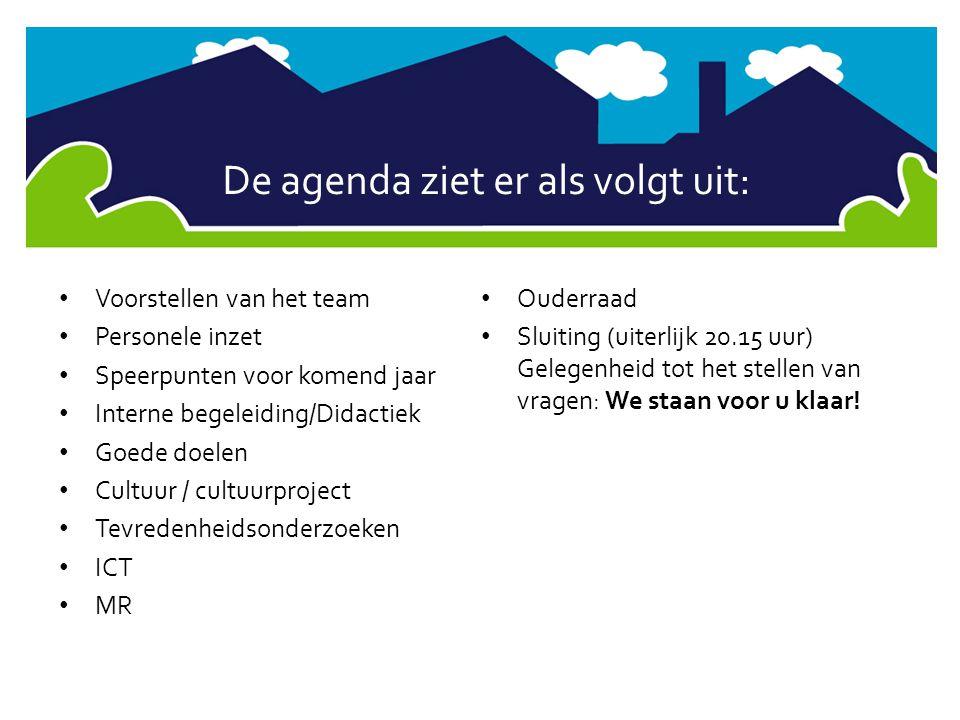 De agenda ziet er als volgt uit: