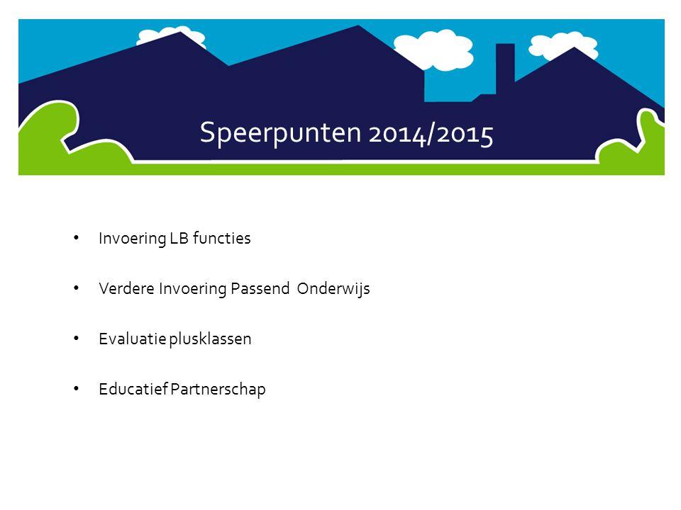 Speerpunten 2014/2015 Invoering LB functies