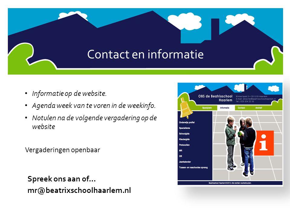 Contact en informatie Spreek ons aan of… mr@beatrixschoolhaarlem.nl