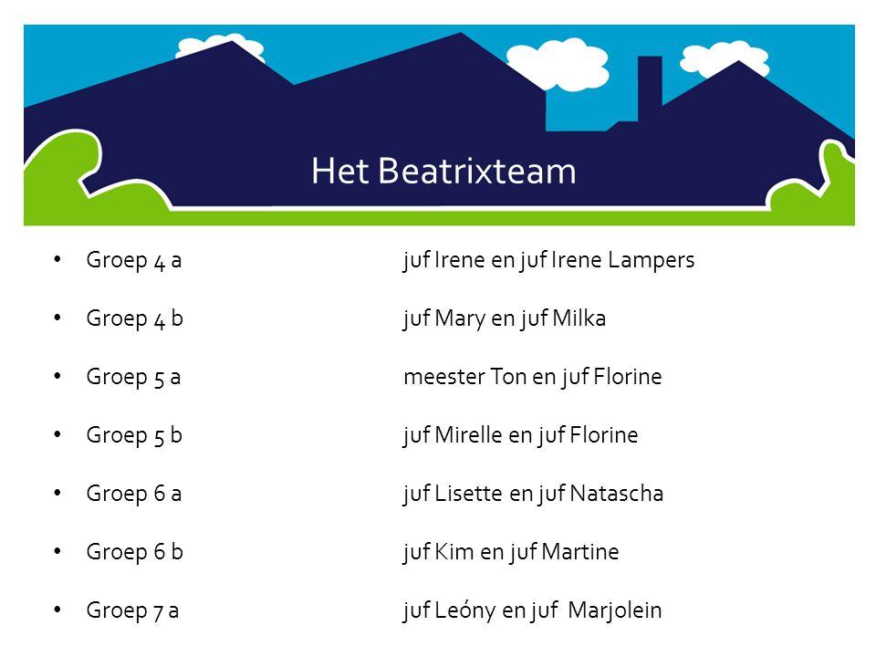Het Beatrixteam Groep 4 a juf Irene en juf Irene Lampers