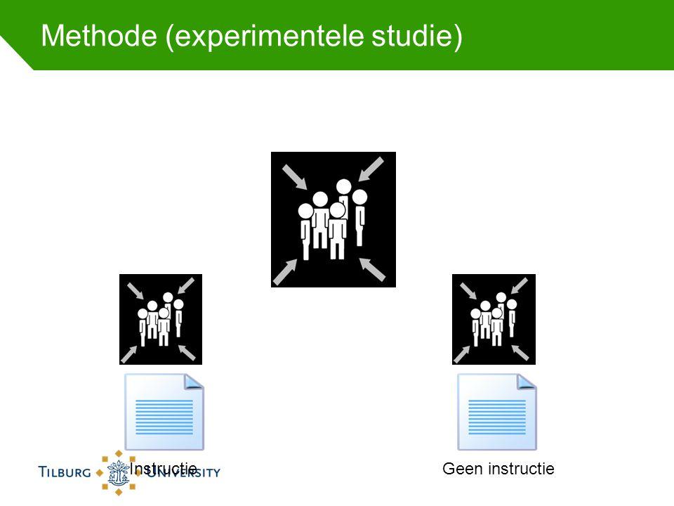 Methode (experimentele studie)