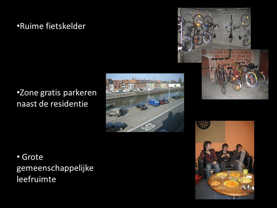Ruime fietskelder Zone gratis parkeren naast de residentie Grote gemeenschappelijke leefruimte