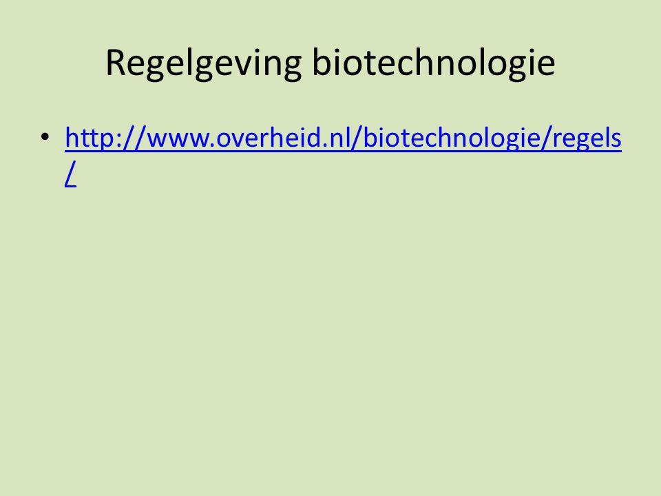 Regelgeving biotechnologie
