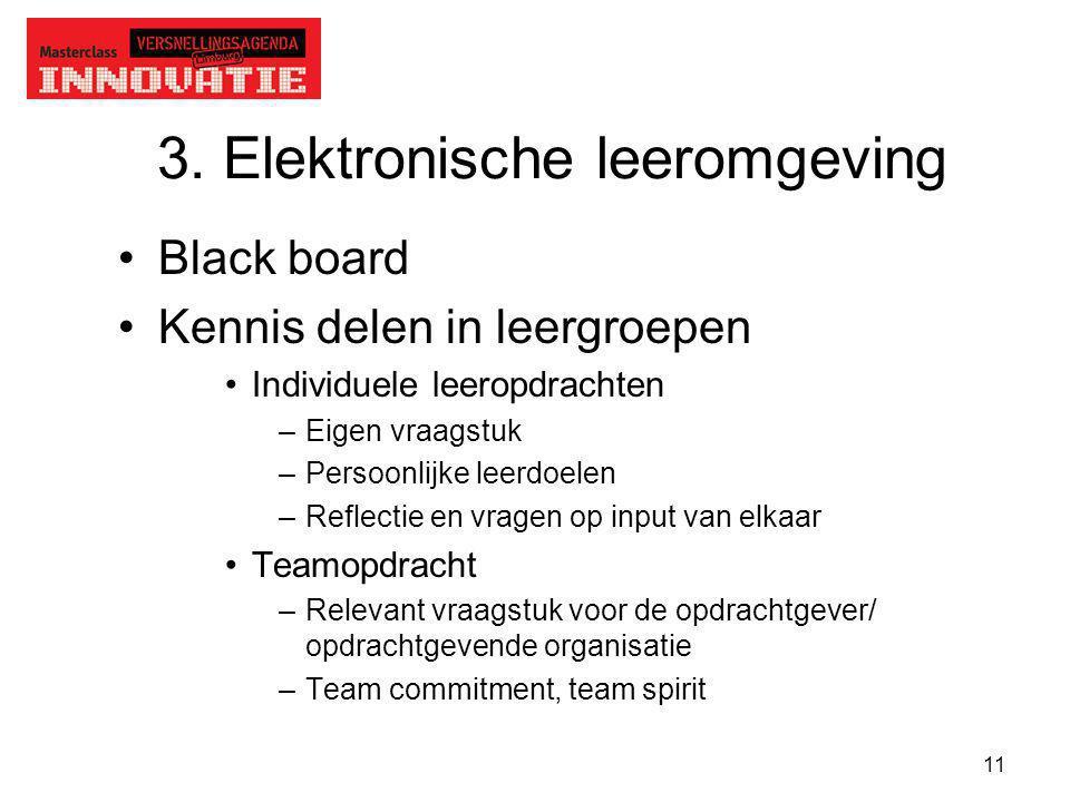 3. Elektronische leeromgeving