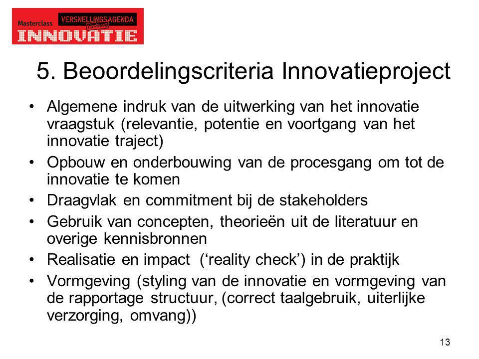 5. Beoordelingscriteria Innovatieproject