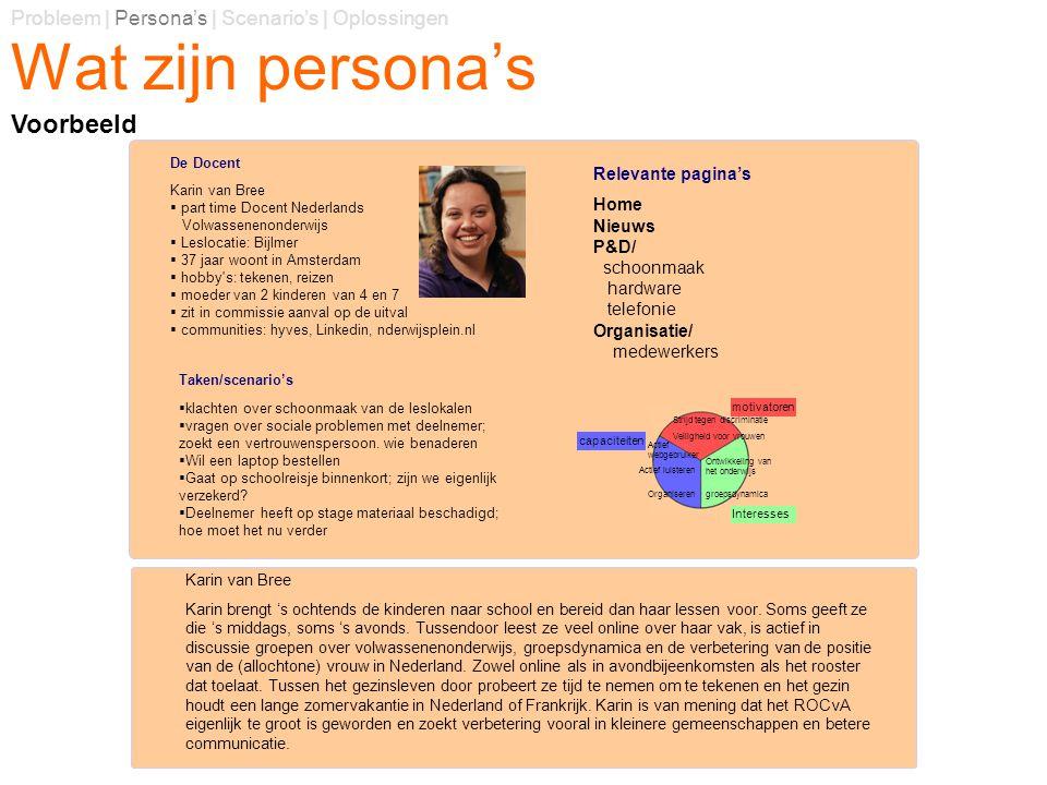Wat zijn persona's Voorbeeld