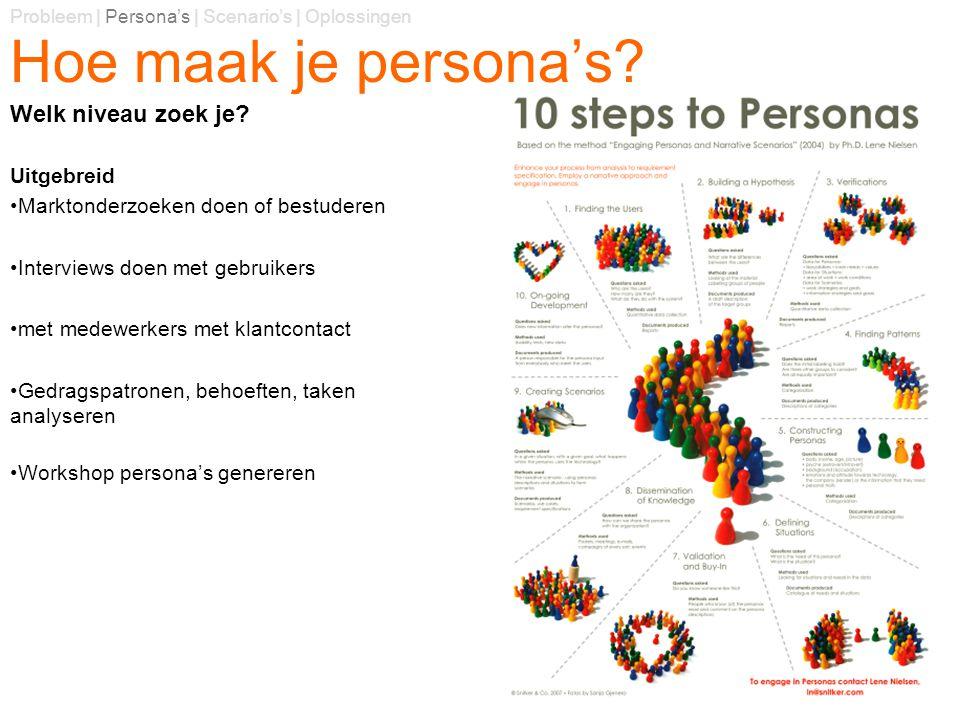 Hoe maak je persona's Welk niveau zoek je Uitgebreid