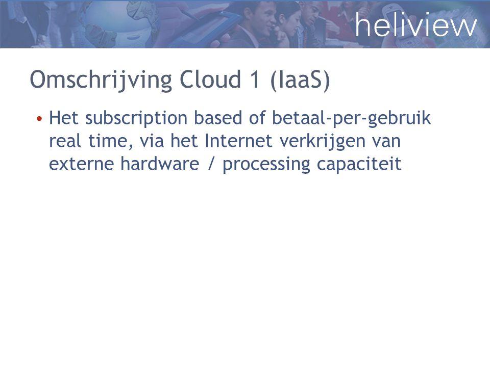 Omschrijving Cloud 1 (IaaS)