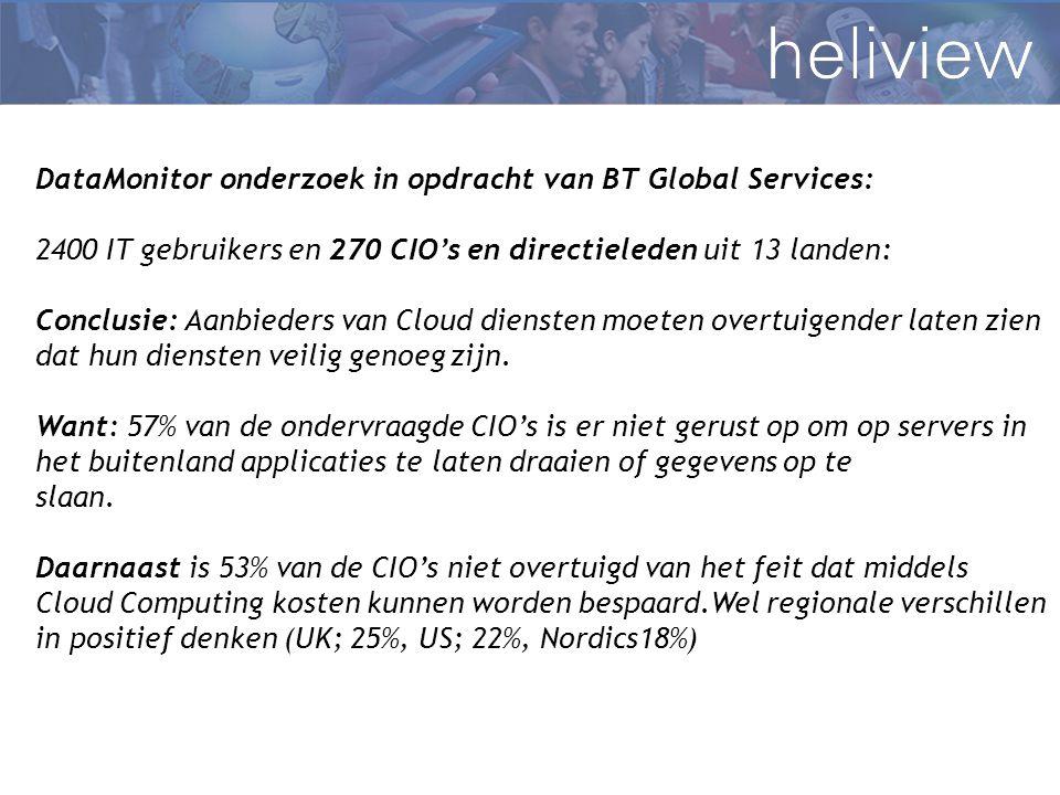 DataMonitor onderzoek in opdracht van BT Global Services: