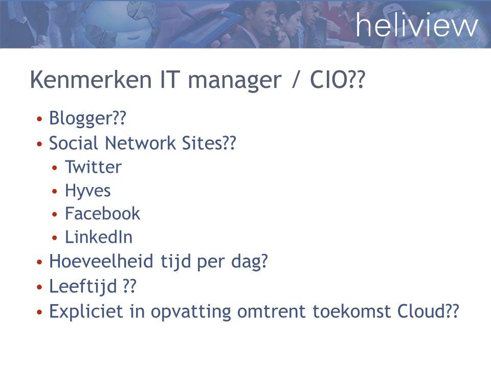Kenmerken IT manager / CIO