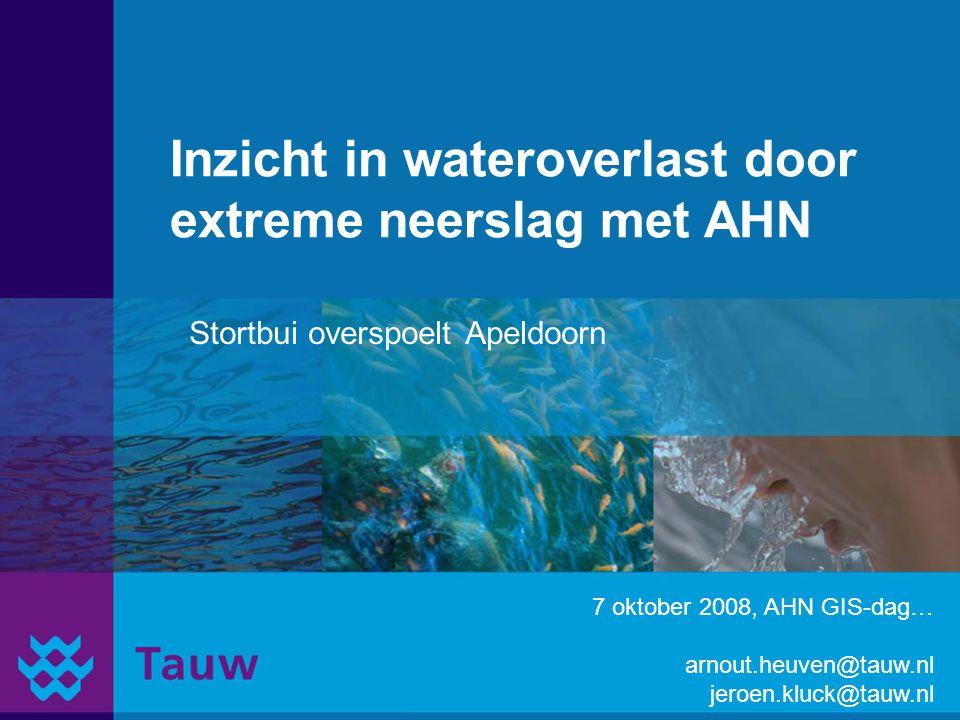Inzicht in wateroverlast door extreme neerslag met AHN