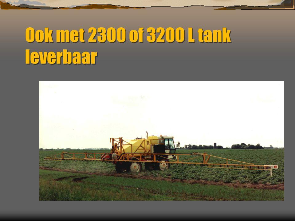 Ook met 2300 of 3200 L tank leverbaar