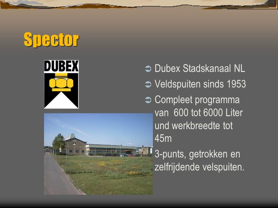 Spector Dubex Stadskanaal NL Veldspuiten sinds 1953