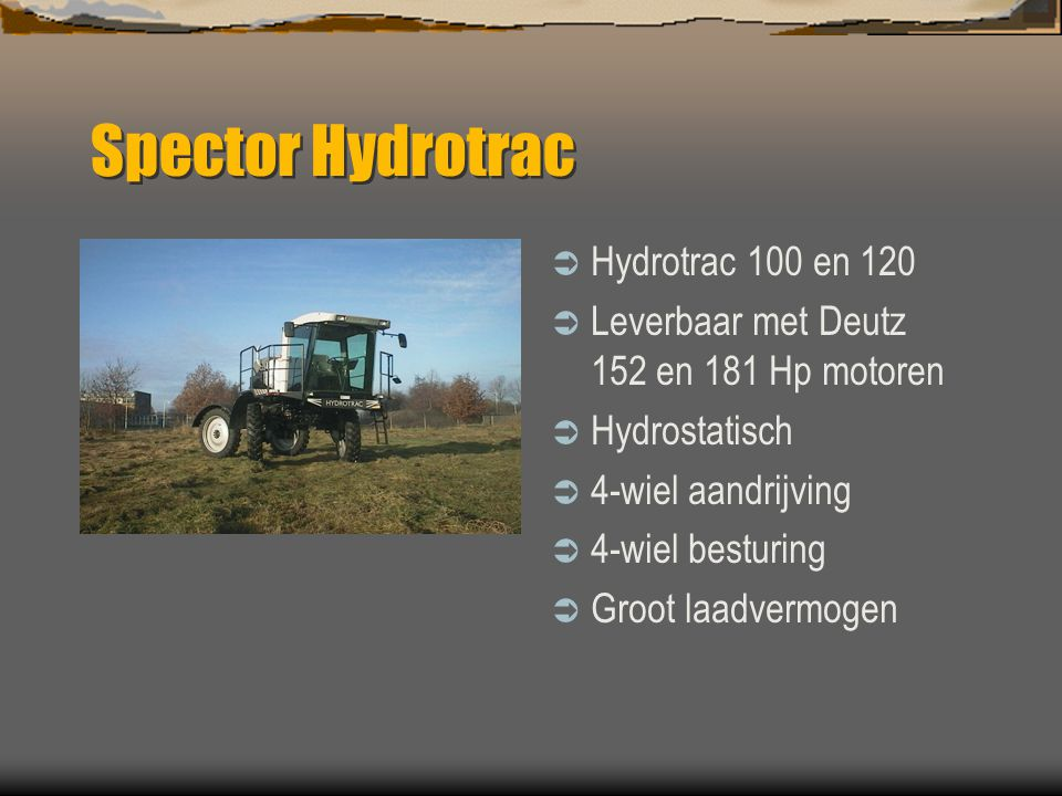Spector Hydrotrac Hydrotrac 100 en 120